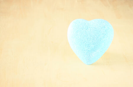 Blue heart photo