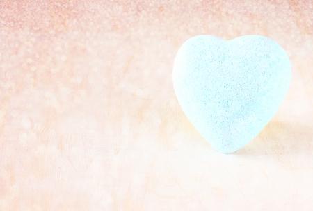 Blue heart photo