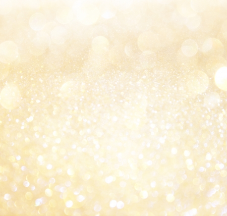 white and gold abstract bokeh lights  defocused background photo