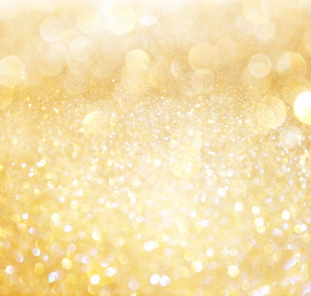 glitz: white and gold abstract bokeh lights  defocused background