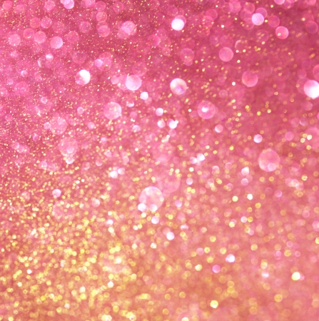 gold and pink abstract bokeh lights  defocused background