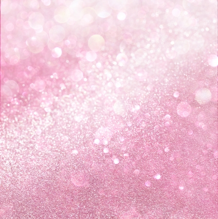 white and pink abstract bokeh lights  defocused background Stock Photo