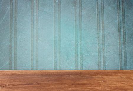 rayures vintage: rayures cru fond bleu