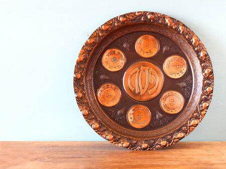 passover background plate jewish passover bread over wooden background