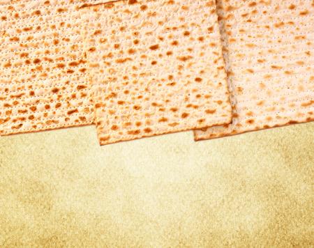 matzos: Passover background  wine and matzoh  jewish passover bread  Stock Photo