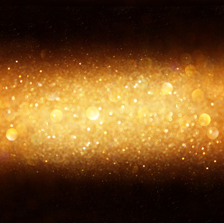 defocused golden lights background  abstract lights background    photo