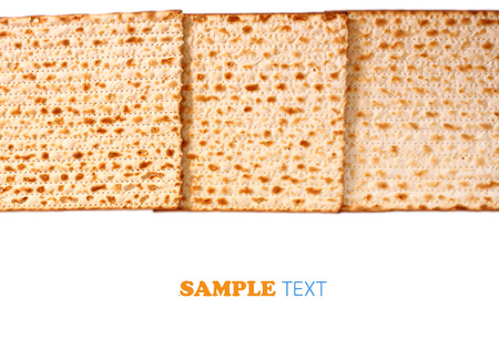 matzoth: Passover background  wine and matzoh  jewish passover bread  Stock Photo