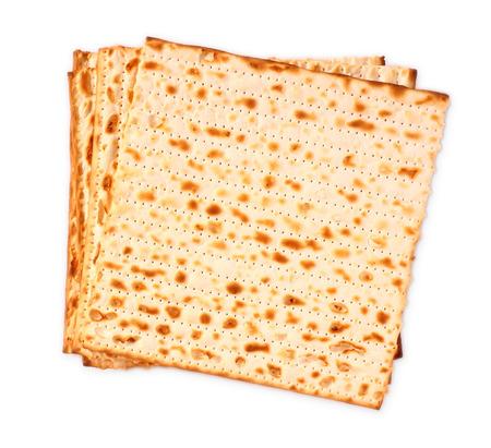 Pascha achtergrond wijn en matzoh Joodse Pascha brood