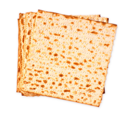 matzoh: Passover background  wine and matzoh  jewish passover bread  Stock Photo