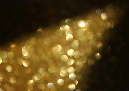 gold glitter trail lights photo