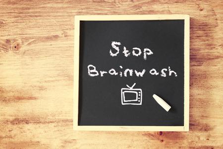 brainwash: stop brainwash concept over blackboard