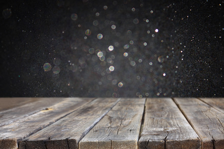 dark wood: wood board and dark bokeh background  ready for product display