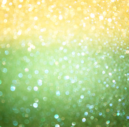 green and yellow bokeh lights  concept for brazilian flag colors    photo