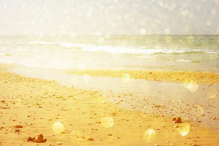 word summer written on beach sand   photo