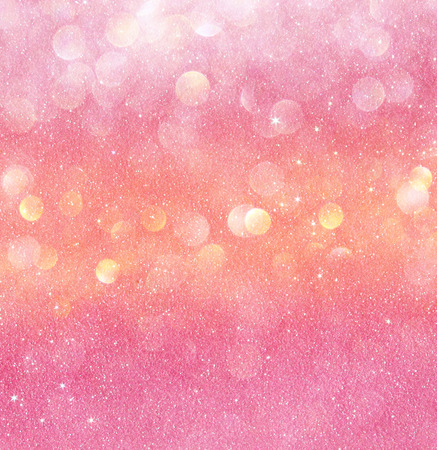 gold and pink abstract bokeh lights  defocused  Stock Photo
