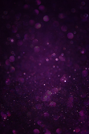 bokeh: black silver and purple abstract bokeh lights  defocused background   Stock Photo