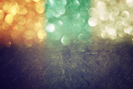 multicolor vintage style bokeh lights  defocused abstract background    photo
