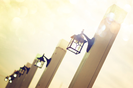 vintage romantic street lights photo