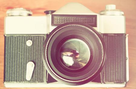 instagram: vintage camera lens close up