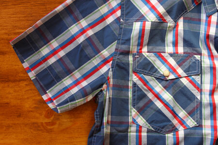 close up of vintage male shirt, Checkered pattern