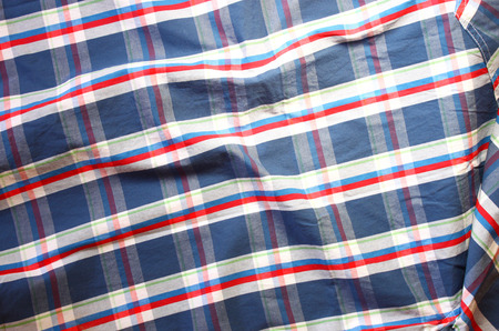 checkered polo shirt: close up of vintage male shirt, Checkered pattern
