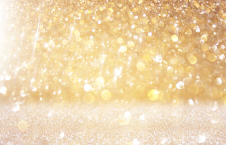 fairytale background: abstract photo of light burst and glitter bokeh lights  image is blurred and filtered   Stock Photo