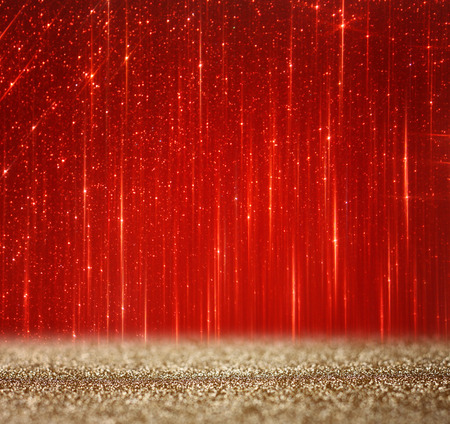 red and gold abstract bokeh lights  defocused background