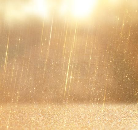 boke: glitter vintage lights background  abstract gold background   defocused