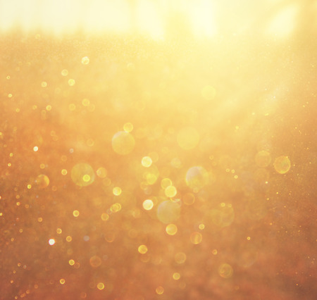 gold and warm abstract bokeh lights  defocused background