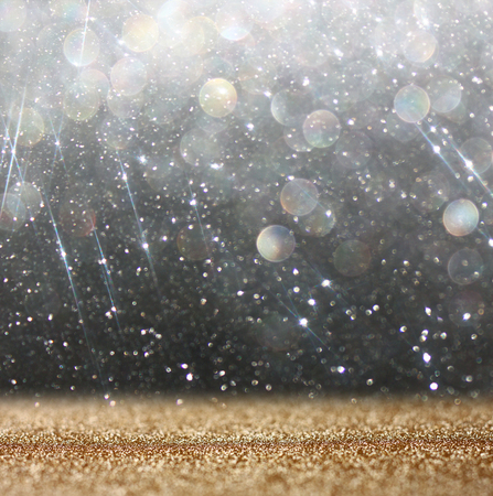 glitter vintage lights background  abstract white and black background  defocused photo
