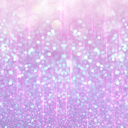 glitter vintage lights background. light dark blue and gold. defocused Stock Photo
