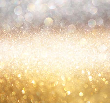 wit zilver en goud abstracte bokeh lichten. onscherpe achtergrond