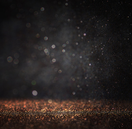 暗いキラキラ ビンテージ ライトの背景。