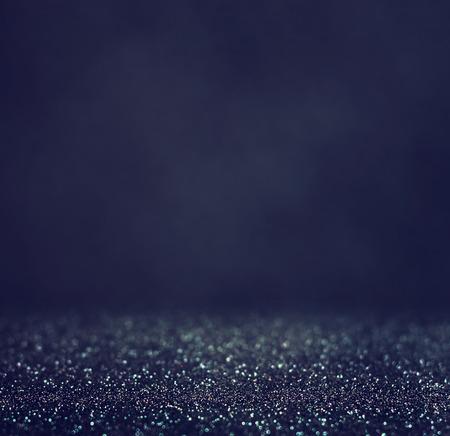 Światła: brokat rocznik światła w tle. lekki srebrny i czarny. nieostre. Zdjęcie Seryjne