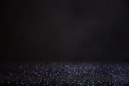 Brillare luci sfondo vintage. argento chiaro e nero. defocused. Archivio Fotografico - 33546887