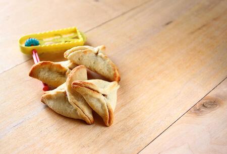 hamantash: Hamantaschen cookies or hamans ears for Purim celebration (jewish holiday)
