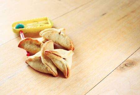 hamantaschen: Hamantaschen cookies or hamans ears for Purim celebration (jewish holiday)
