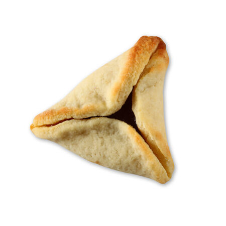 haman: Hamantaschen cookies or hamans ears for Purim celebration (jewish holiday). isolated on white