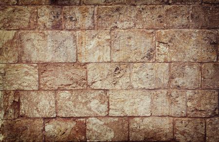 muur textuur van Jeruzalem steen Stockfoto