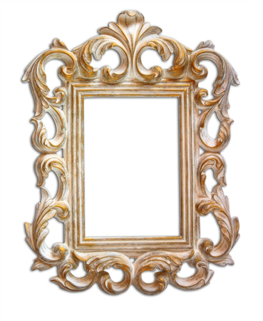 weeding: antique victorian style frame. isolated on white