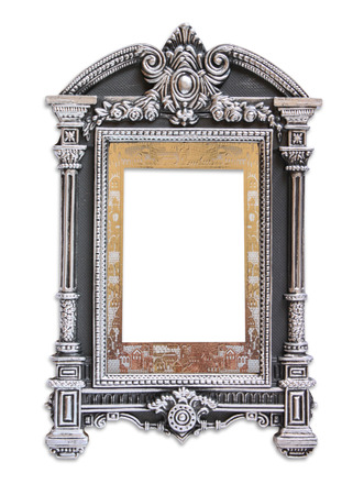 judaic: antique judaic classic frame. isolated on white