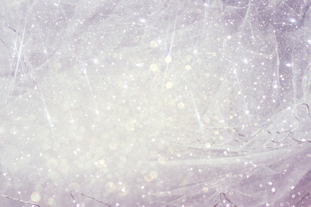 jewelry: Vintage tulle chiffon texture background with glitter overlay. wedding concept