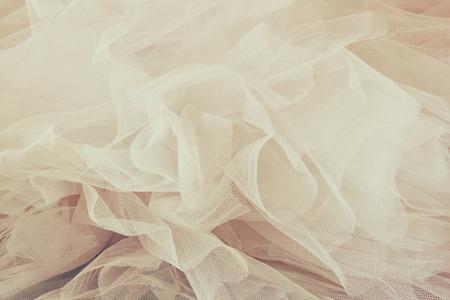 Vintage tule chiffon textuur achtergrond. Bruiloft concept Stockfoto