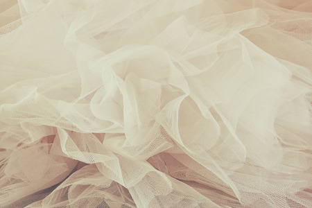 wedding accessories: Vintage tulle chiffon texture background. wedding concept