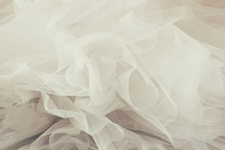 tulle: Vintage tulle chiffon texture background. wedding concept