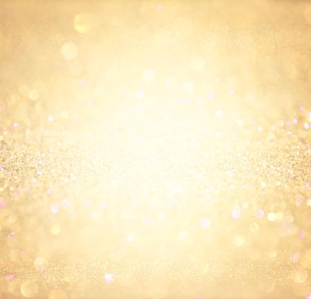 glitter vintage lights background. abstract gold background . defocused Banque d'images