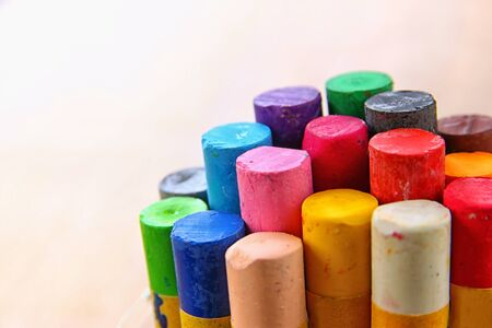 drawings image: Image of varius colorful crayons