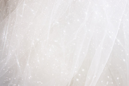 silver jewellery: Vintage tulle chiffon texture background with glitter overlay. wedding concept