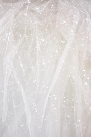 Vintage tulle chiffon texture background with glitter overlay. wedding concept
