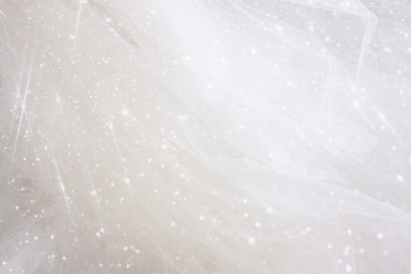 fashion jewellery: Vintage tulle chiffon texture background with glitter overlay. wedding concept